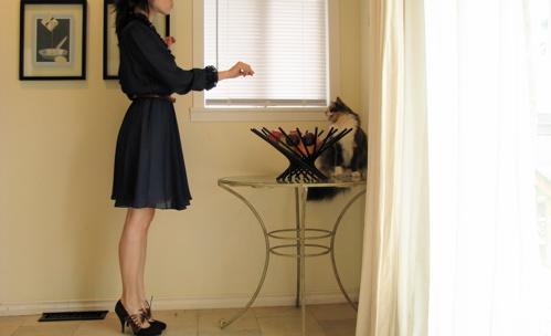 ruffle vintage dress