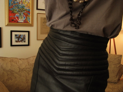 chevron-leather-skirt