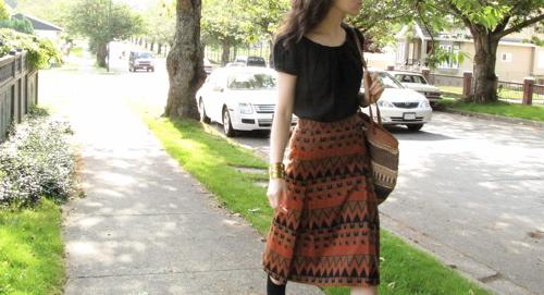 orange-vintage-skirt