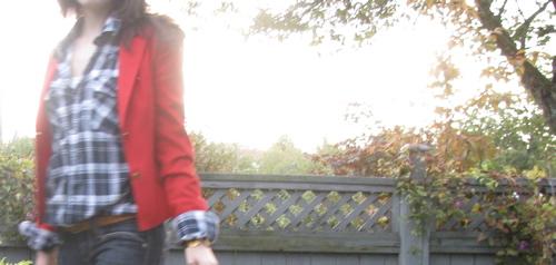 red-jacket-plaid-shirt