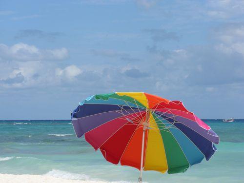 rainbow-umbrella-playa-del-carmen