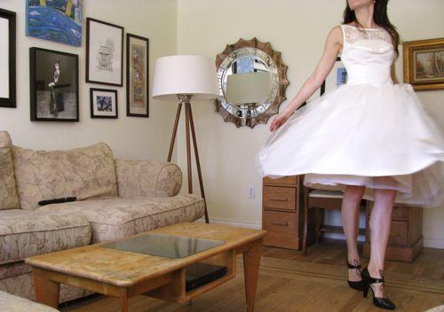 wedding-dress-vintage-ballet-length