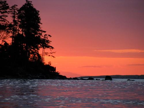 sunset gabriola island bc