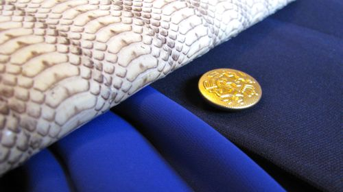 snakeskin clutch details