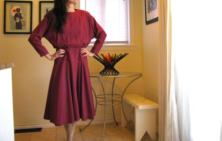 rose-wool-dress-before
