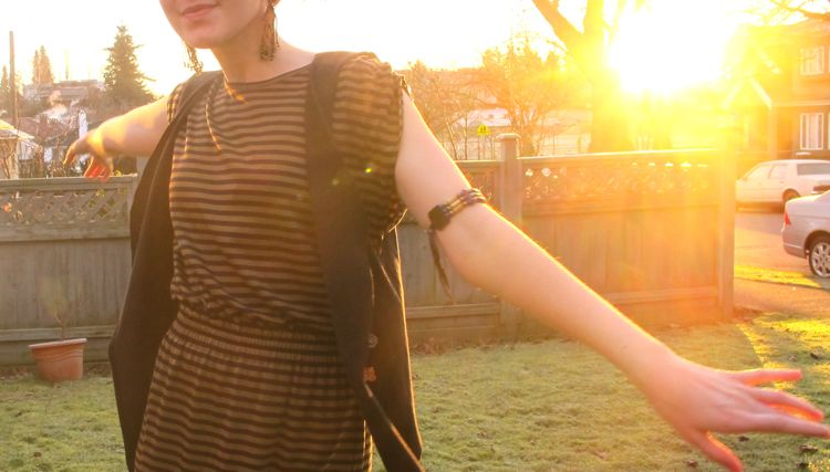 t-shirt-vest-striped-dress