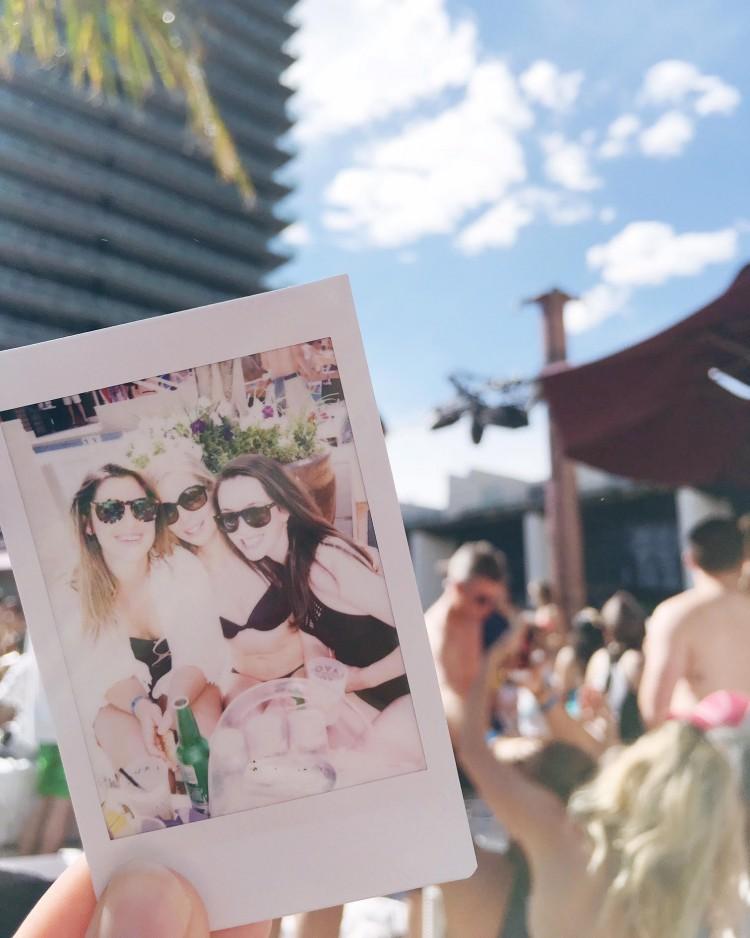 Polaroid Cosmopolitan Pool Las Vegas