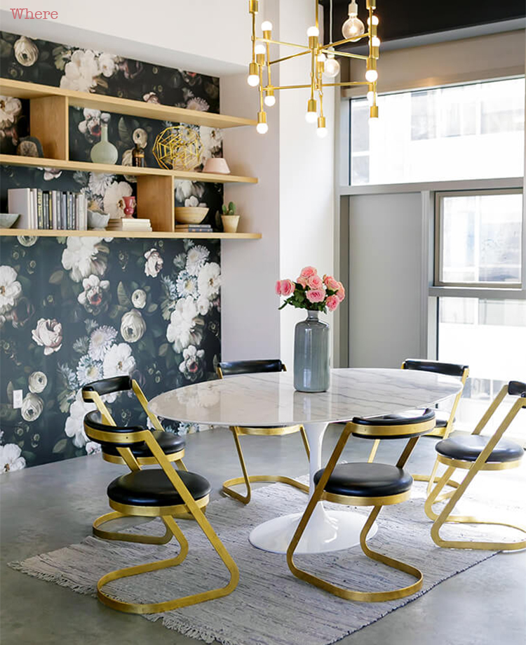 black brass chairs